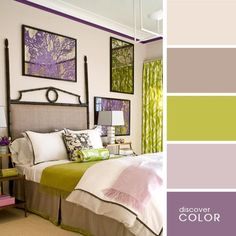 The bedroom in shades of lilac