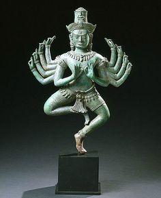 Dancing Shiva Dancing Shiva Cambodia, Post-Bayon Angkor Vat Revival style, thirteenth century Bronze H. Laos, Walt Disney, Vietnam, Shiva Statue, Religion, Religious Icons, Dance Art, Sacred Art, India