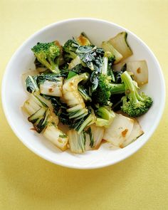 This healthy side dish features a trio of Asian flavors -- garlic, ginger, and soy.