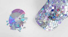 Resultado de imagem para artesanato com cds velhos