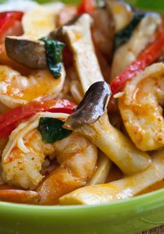Try the recipe for Thai Shrimp Curry and Rice Recipe.
