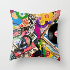 Throw Pillow made from 100% spun polyester poplin fabric, a stylish statement that will liven up any room. Individually cut and sewn by hand, each pillow features a double-sided print and is finished with a concealed zipper for ease of care.  Sold with or without faux down pillow insert. Down Pillows, Throw Pillows, Poplin Fabric, Pillow Inserts, All The Colors, Decor Styles, Hand Sewing, Color Pop, It Is Finished