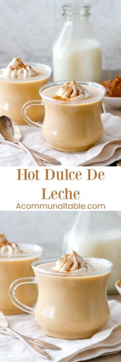 This homemade Mexican Hot Dulce De Leche is as comforting as hot chocolate. Creamy, rich and satisfying, this recipe only requires 3 ingredients!!
