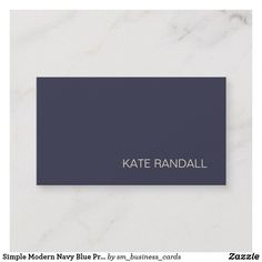 simple modern navy blue professional business card - Best Calling Cards