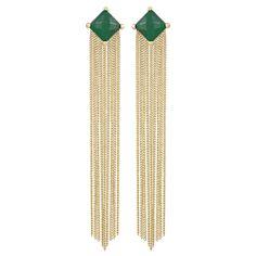 Kendra Scott June Green Earrings - Final Sale @Layla Grayce