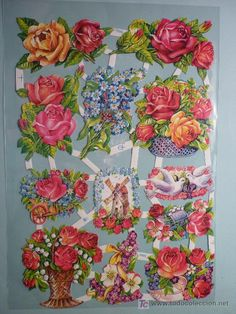 Picture cards with flowers