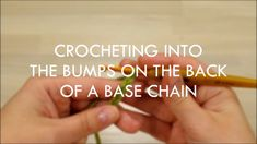 Crocheting into base chain (right-handed)