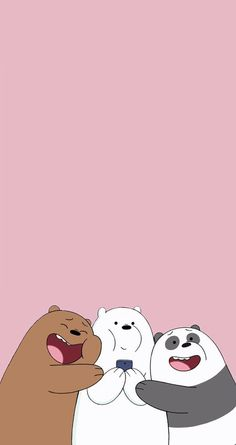 Cute we bare bears Cute Panda Wallpaper, Funny Phone Wallpaper, Bear Wallpaper, Wallpaper Iphone Disney, Iphone Background Wallpaper, Cute Disney Wallpaper, Kawaii Wallpaper, Wallpaper Lockscreen, We Bare Bears Wallpapers