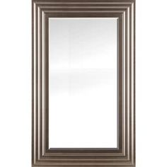 Chrome silver finish beveled wall mirror 26.50X42.50X0.75 | Overstock.com Shopping - The Best Deals on Mirrors