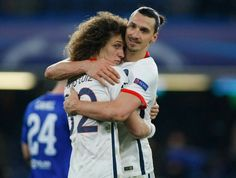 David Luiz & Zlatan Ibrahimovic  | Chelsea FC vs PSG - Paris Saint-Germain #UCL - UEFA Champions League #PSG #FCC #CFCvPSG