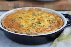 Apple and Cheddar Quiche with Olive Oil and Thyme Crust - Hip Foodie Mom