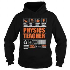 Physics Teacher T Shirts, Hoodies. Get it now ==► https://www.sunfrog.com/LifeStyle/Physics-Teacher-95219746-Black-Hoodie.html?41382