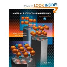 Materials Science and Engineering: An Introduction: William D. Callister, David G. Rethwisch: 9781118324578: Books - Amazon.ca