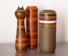 Alvino Bagni for Raymor Art Pottery Vase Italian Mid Century  | eBay