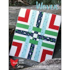 """Pattern """"Woven Baby Quilt"""" by Cluck Cluck Sew (CCS165) Paper Sewing Card Crib Quilt Pattern"""