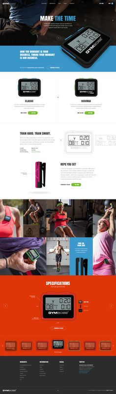 GYMBOSS website - Ui design concept and developing by Elegant Seagulls on dribbble.
