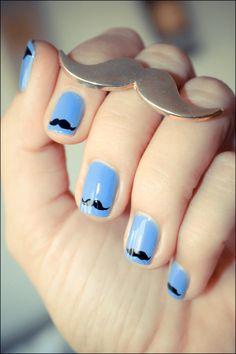 mustache #nails