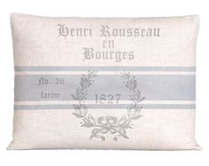 Vintage Style Linen French Grain Sack Pillow Cover. $54.00, via Etsy.