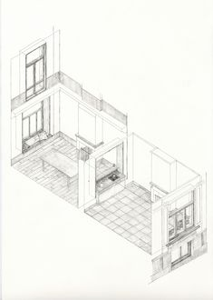 Universum 2017 HS, a house, a school. Architecture Collage, Architecture Visualization, Architecture Student, Architecture Drawings, Architecture Plan, Interior Architecture, Iso Drawing, Plan Drawing, Axonometric Drawing