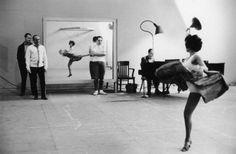 """wehadfacesthen: """"Director and choreographer Jerome Robbins from left) rehearses Rita Moreno for one of the dances in West Side Story, 1961 """" Film Logo, Rita Moreno, Netflix, Vintage Hollywood, Classic Hollywood, West Side Story 1961, Jerome Robbins, Film Story, Story Story"""