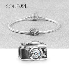 Vintage Camera Charm 925 Sterling Silver, Charms Fit All Brands Bracelets, Soufeel Jewelry , For Every Memorable Day!