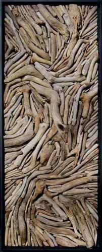 drift wood art - would also make an amazing headboard!