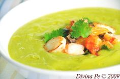 Chilled Avocado and Cucumber Soup With Prawn and Scallop Salsa Category: Soups & Salads