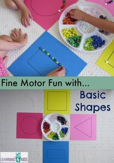 Shapes Work Station or Centre Activity Fine motor fun with basic shapes, learning basic shapes, maths centre activityFine motor fun with basic shapes, learning basic shapes, maths centre activity Diy Montessori, Montessori Activities, Preschool Learning, Preschool Activities, Preschool Shapes, Nursery Activities, Funky Fingers, Teaching Shapes, Motor Skills Activities