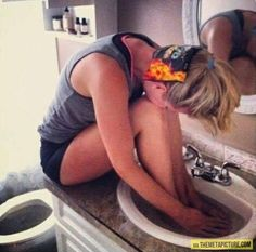 I soak my feet in the sink like that all the time, just when I'm cold. :) - (Btw, is their water okay? :3)