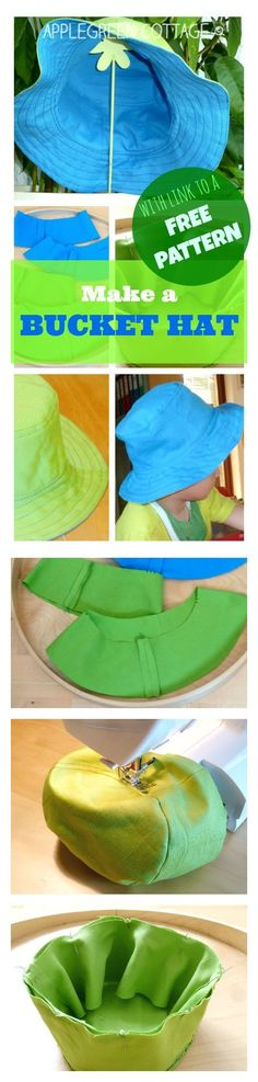An easy and FREE step-by-step tutorial to make the cutest bucket hat for your kid. Get your FREE PATTERN and updated SIMPLIFIED HOW-TO, appropriate for beginner sewists, too.: