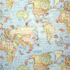 World map designer curtain upholstery cotton fabric material 55 world map designer curtain upholstery cotton fabric material 55140cm wide world map canvas upholstery pillowcase bag and fabric material gumiabroncs Image collections