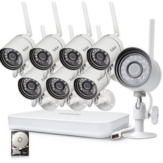 Funlux NVR Megapixel HD Wireless Home Security Camera System - Home Security Camera - Ideas of Home Security Camera - Funlux NVR Megapixel HD Wireless Home Security Camera System Wireless Video Camera, Wireless Home Security Cameras, Home Security Camera Systems, Best Home Security, Wireless Home Security Systems, Security Alarm, Security Products, House Security, Security Tips