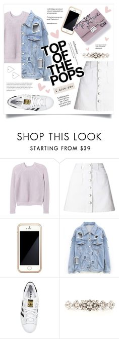 """""""Top of the pops"""" by stellacolor21 ❤ liked on Polyvore featuring Rebecca Taylor, Miss Selfridge, Squair, Christian Dior, adidas Originals, Dolce&Gabbana and Lee Renee"""
