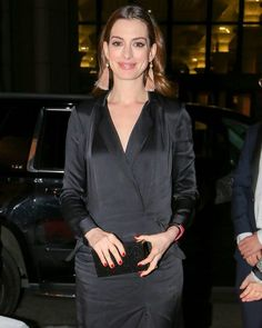 Anne Hathaway Aarriving at Cipriani in New York City #wwceleb #annehathaway