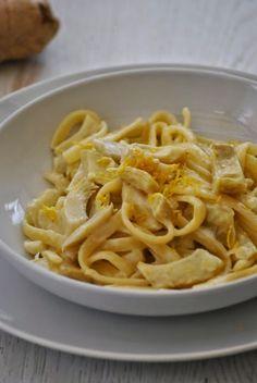 Sorelle in pentola: Scialatielli con carciofi, zenzero e limone