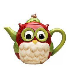 Love this Owl Teapot by Sugar High Social on #zulily! #zulilyfinds