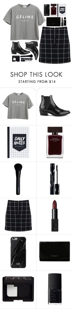 """Backstage Black"" by vogue-breakfast ❤ liked on Polyvore featuring Chicnova Fashion, Steve Madden, Narciso Rodriguez, Givenchy, Shiseido, Miss Selfridge, NARS Cosmetics, Native Union and Forever 21"