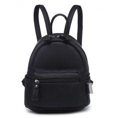 BLOCK PARTY BLACK MINI BACKPACK ($30) ❤ liked on Polyvore featuring bags, backpacks, block bag, mini zip bags, zip bag, mini rucksack and zipper bag