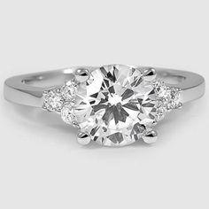 18K White Gold Trio Diamond Ring