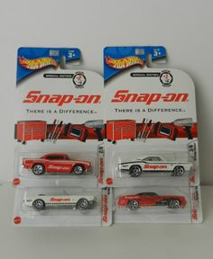 Hot Wheels Snap-On 57 Chevy Plymouth Mustang Dodge Charger