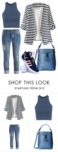 """Untitled #133"" by sandra-sivache on Polyvore featuring WithChic, Topshop, Furla, adidas, women's clothing, women, female, woman, misses and juniors"