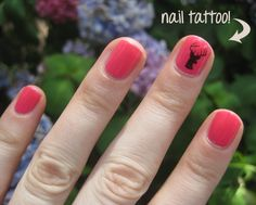 bigRuby Nail Tattoos. #Antler #Antlers