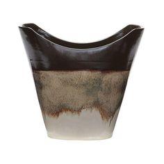 Lazy Susan 857108 Reaction Vase In Cascade Mocha- Large