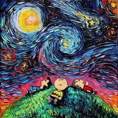 Pop culture #Peanuts vs #VanGogh