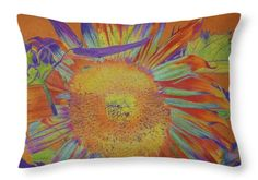 Sunflowers Throw Pillow featuring the drawing Sunbath by Cris Fulton