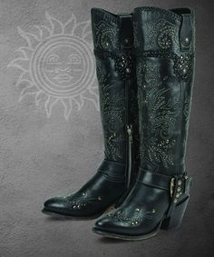 I love mine! These are a soft leather and very comfortable.  Andromeda (black)- Black Star Boots
