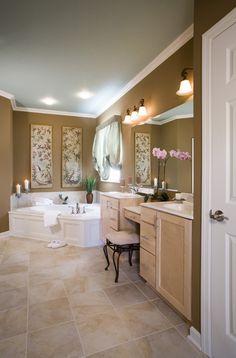 Inside large master bathroom
