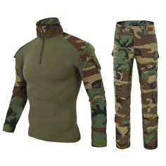 "HOT PRICES FROM ALI - Buy ""MEGE 12 Camouflage colors US Army Combat Uniform military shirt cargo multicam Airsoft paintball tactical cloth with elbow pads"" from category ""Novelty & Special Use"" for only USD. Camouflage Suit, Camouflage Colors, Military Camouflage, Military Jacket, Camouflage Clothing, Military Force, Hunting Camouflage, Green Clothing, Military Army"