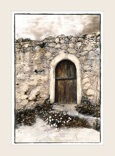 Arched Door - Marlene Neumann Fine Art Photography www. Arched Doors, Door Steps, Landscape Quilts, Thread Painting, Old World Charm, Fabric Art, Textile Art, Fine Art Photography, Architecture
