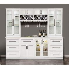 NewAge Products White Wood Shaker-style Home Bar